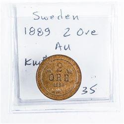 Sweden 1889 2 Ore KM#746 (AU)