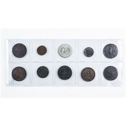 USA Group of Ten Tokens Hard Times, Civil  War, Store Cards