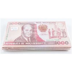 MOCAMBIQUE Brick (100) x '1000 Meticais' P135  - X100 CAT 300