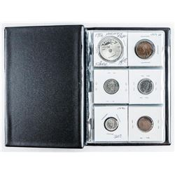 Starter Collection (12) Coins with Stock Book  with Silver