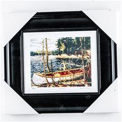 "Tom Thomson (1877-1917) Studio/Litho Panel  'The Canoe' 14x14"""