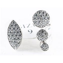 925 Sterling Silver Ring by Charlotte Daniel  with Swarovski Elements. Size 9