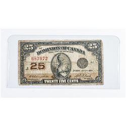 Dominion of Canada 1923 25 cent C/C