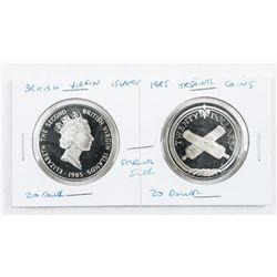 British Virgin Islands 1985 Treasure Coins  925 Sterling, 20 Dollar each Face