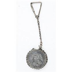 Estate Silver Key Ring, 1924 'Venezuela'  Estados Coin 25 grams (Coin)