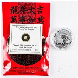 999 Fine Silver Year of the Dragon $10.00  Coin
