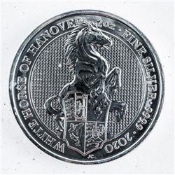 2020 .9999 Fine Silver 5 Pounds Coin'Horse'
