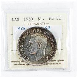 1950 Canada Silver Dollar MS62