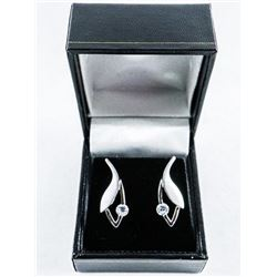 925 Silver Fancy Earring with Swarovski  Elements