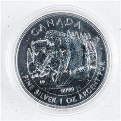 .9999 Fine Silver 2013 $5.00 Coin 'BISON'