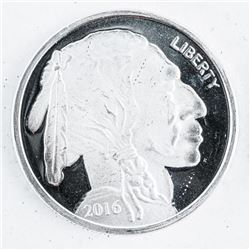 .999 Fine Silver Indian/Buffalo One Troy  ounce Round