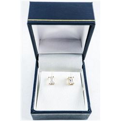 925 Silver 'GP' Rectangular Swarovski  Elements Stud Earrings