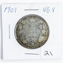 1907 Canada Silver 50 Cent VG-8
