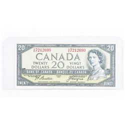 Bank of Canada 1954 20.00 Devil's Face. B/C