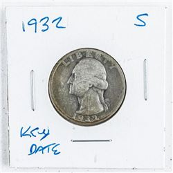 1932(S) USA Silver 25 Cent. Key Date