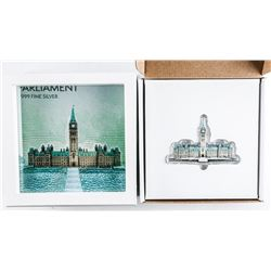 .9999 Fine Silver Sculpture Parliament  Buildings with Display