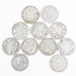 Lot (11) Historical Silver 50 cents.