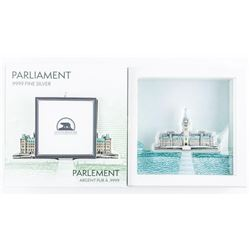 Parliament .9999 Fine Silver Sculpture, 100  grams with Display