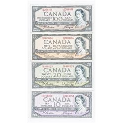 Group (4) Bank of Canada Note 1954 Notes -  10, 20, 50, 100
