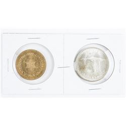 1867-1967 Pair - Confederation Medal and  Silver Dollar