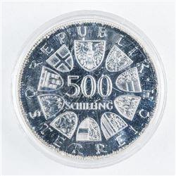 Austrian Schilling 1980 500 Schilling Coin  $56.40 CAN FACE