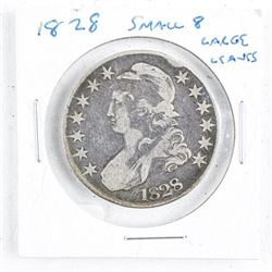 1828 US Silver 50 Cent Small 8 Large Leaves