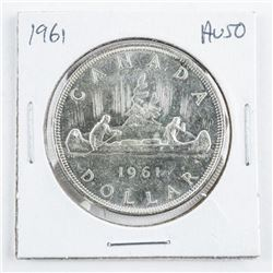 1961 Canada Silver Dollar AU50