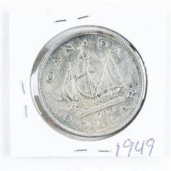 1949 Canada Silver Dollar AU50