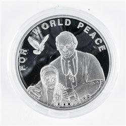 925 Sterling Silver 10.00 For World Peace  LE/2500