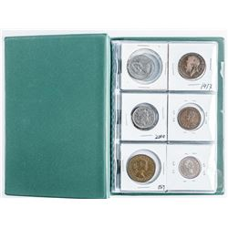 Starter Coin Collection in Stock Book with 18  Coins includes Silver Coins