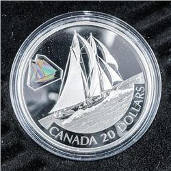 2000 925 Sterling Silver 20.00 Coin, Bluenose