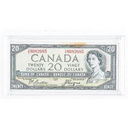 Estate Bank of Canada 1954 20.00 Devil's Face  Note. B/C