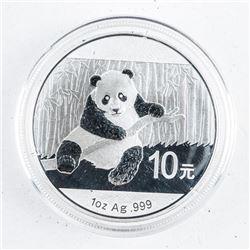 China .999 Fine Silver 10 Yuan 2015 - Panda  Coin