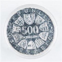 Austrian Schilling 1980 500 Schilling Coin  $56.40 CAD FACE