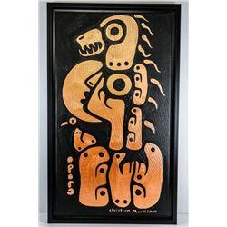 Christian Morrisseau (1969-) Original  Painting Acrylic Metallic on Canvas 'Astral  Healer' C2016 Si