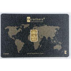 .999 Fine Silver 24kt Gold Bar - Serialized