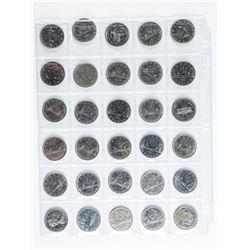 Group (30) Canada Nickel Mixed Dollar Coins