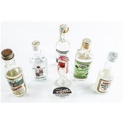 Group - Estate Mini Bar Bottles. Full.