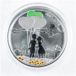 925 Sterling Silver 5.00 Coin. First Love.  (AR)