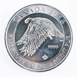 .9999 Fine Silver $8.00 Coin 'FALCON' 1 1/2  oz