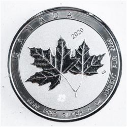 .9999 Fine Silver Double Maple Leaf 10.00  Coin, 2oz ASW