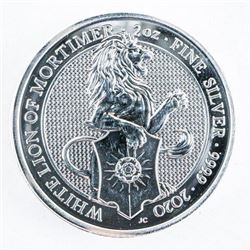 The White Lion of Mortimer - .9999 Fine  Silver 5 Pounds 2oz ASW