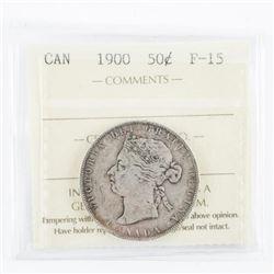 1900 Canada 50 Cent ICCS. F-15