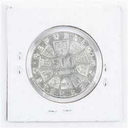 Maria Theresias 1980 Austrian 500 Schilling  Coin