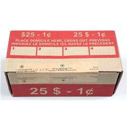 Farewell to The Penny Original Mint Case of  50 Rolls x 50 coins - 2500 Coins. CANADA POST  - Steel,
