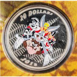 RCM/Warner Bros - Looney Tunes Merrie  Melodies .999 Fine Silver $20.00 Coin