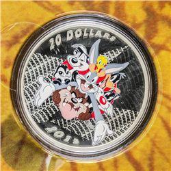 RCM/Warner Bros - Looney Tunes Merrie  Melodies .999 Fine Silver $20.0 Coin