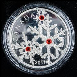 .999 Fine Silver $20.00 Coin Crystal  Snowflake