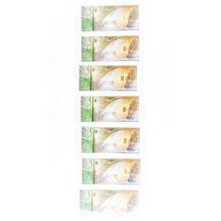 Lot (7) 24kt Gold Bars Inside Cash Gold Note