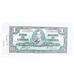 Bank of Canada 1937 1.00 C/T GEM UNC